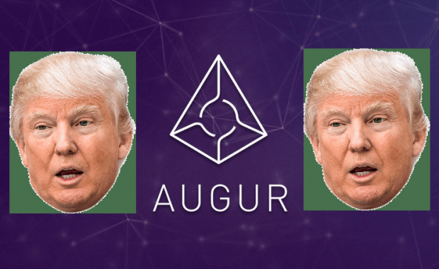donald trump, augur, blockchain, ethereum, cryptocurrency, online gambling