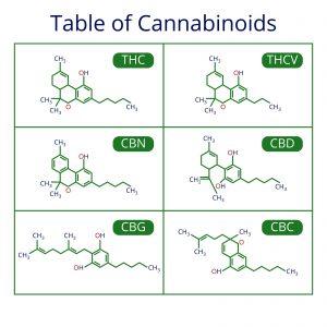CBD, CBN, CBC, CBG, THC, THCV, cannabinoids, weed, weed law