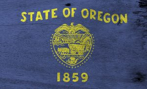 Flag, Of, Oregon, Wooden, Plate, state