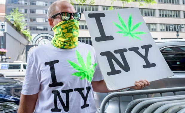forbes, cannabis, ny, new york, sign, man, city