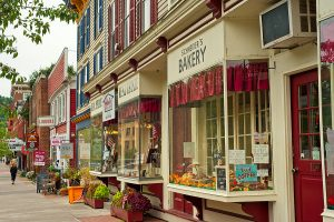 New York, Cooperstown, NY, small town, upstate, businesses, sidewalk